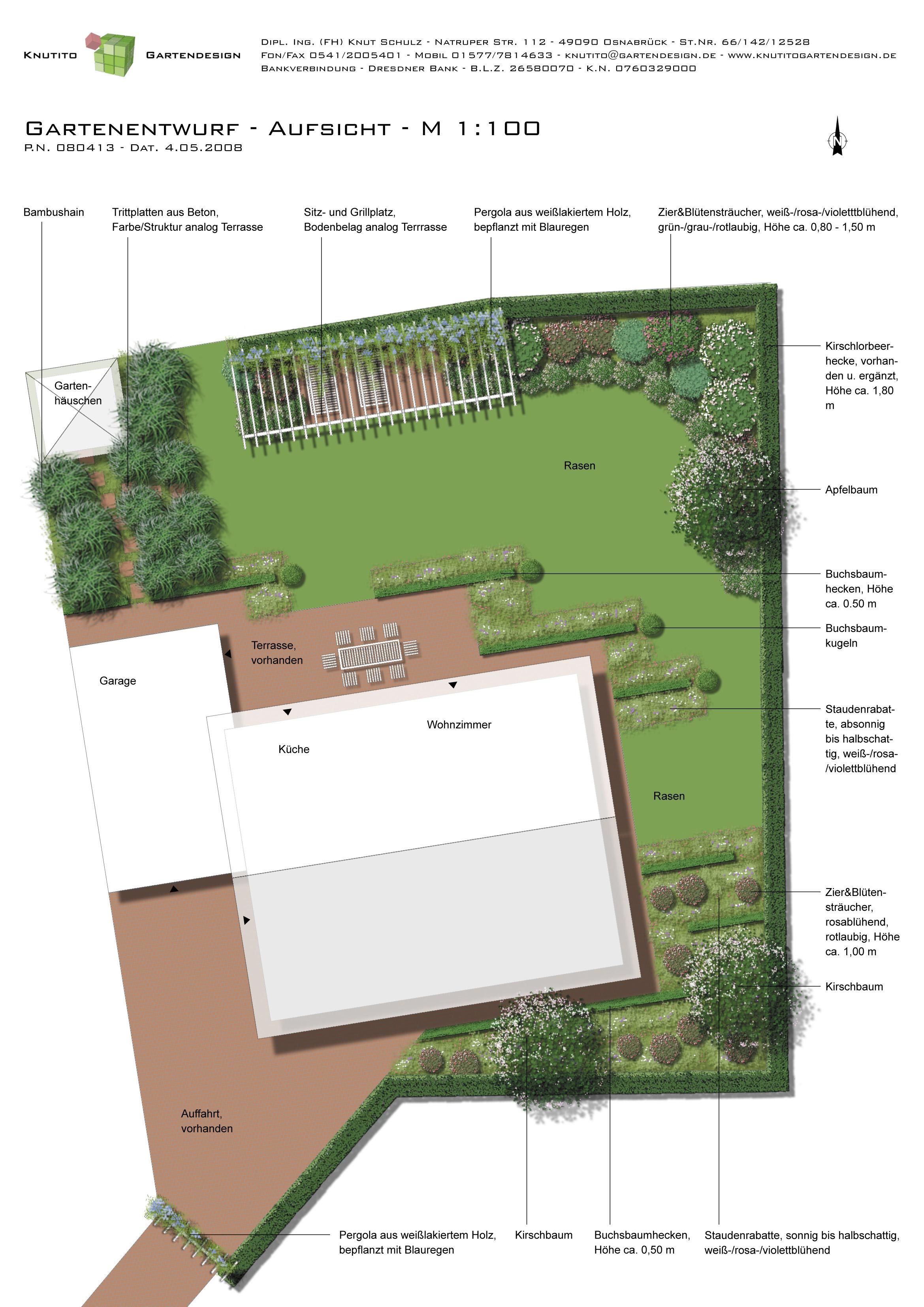 Knutito Gartendesign Referenzen Planung 2008 Privatgarten Engter